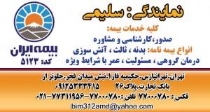 نمایندگی بیمه ایران کد ۵۱۲۳ در تهران