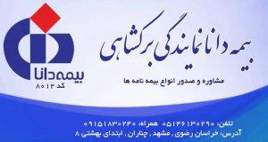 بیمه دانا نمایندگی برکشاهی در مشهد