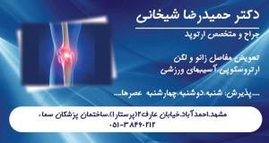 دکتر حمید رضا شیخانی در مشهد