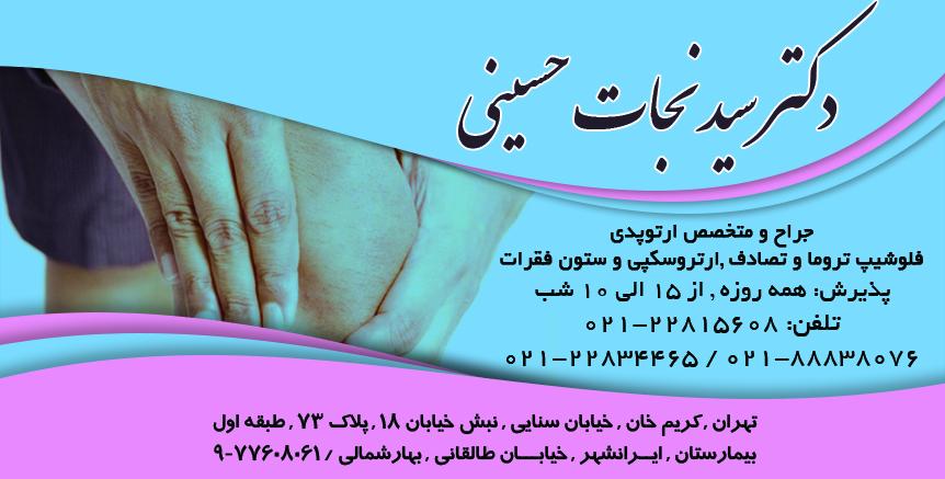 دکتر سید نجات حسینی در تهران