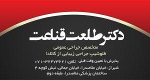 دکتر طلعت قناعت در شیراز