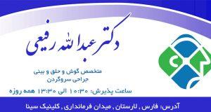 دکتر عبدالله رفیعی در لارستان