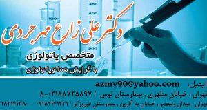 دکتر علی زارع مهرجردی در تهران