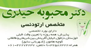 دکتر محبوبه حیدری در دزفول