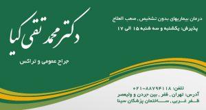 دکتر محمد تقی کیا در تهران