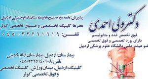 دکتر ولی احمدی در اردبیل