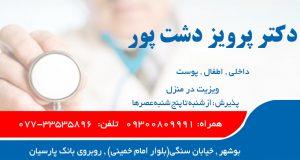 دکتر پرویز دشت پور در بوشهر