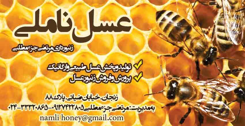 عسل ناملی در زنجان