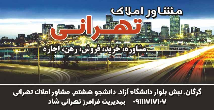 مشاور املاک تهرانی در گرگان