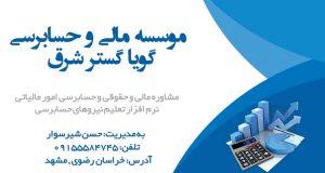 موسسه مالی و حسابرسی گویا گستر شرق در مشهد