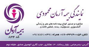 نمایندگی بیمه آرمان محمودی در بندرعباس