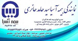 نمایندگی بیمه آسیا سید حامد حائری در بیرجند