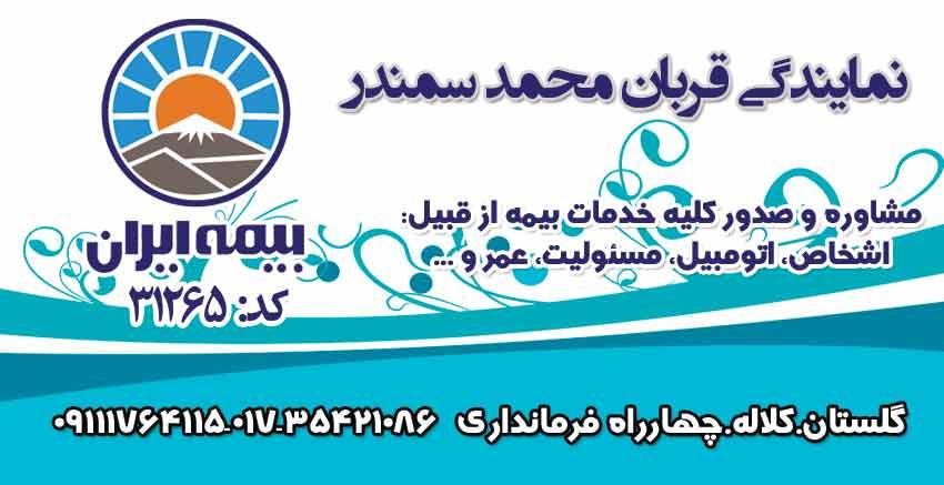 نمایندگی بیمه ایران کد ۳۱۲۶۵