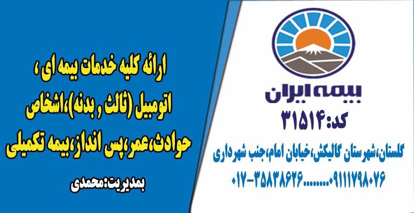 نمایندگی بیمه ایران کد ۳۱۵۱۴