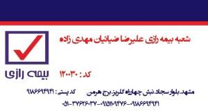شعبه بیمه رازی خراسان رضوی کد۱۲۰۰۳۰
