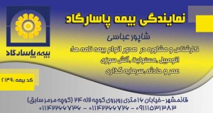 نمایندگی بیمه پاسارگاد عباسی در قائمشهر
