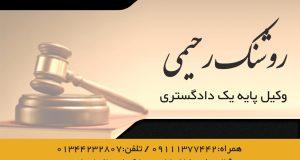 وکیل پایه ۱ دادگستری روشنک رحیمی
