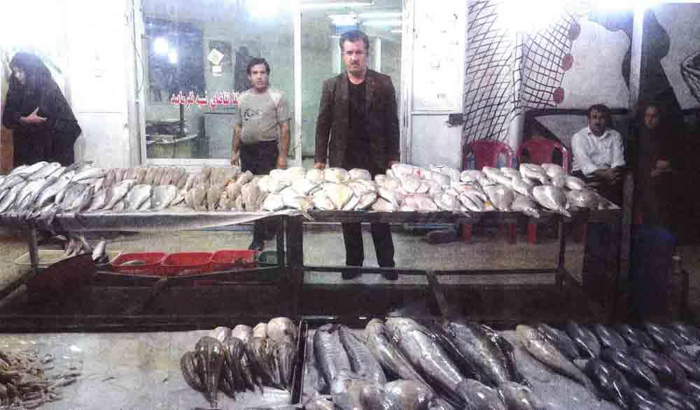 ماهی فروشی برادران صادقی در بهبهان