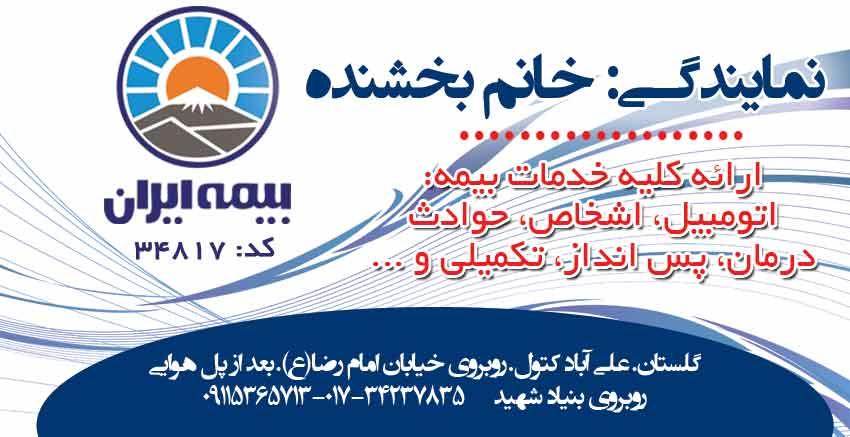 نمایندگی بیمه ایران کد۳۴۸۱۷