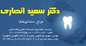 دکتر سعید انصاری در تهران