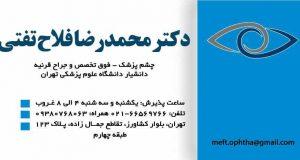 دکتر محمدرضا فلاح تفتی در تهران