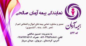 نمایندگی بیمه آرمان صالحی در کردستان