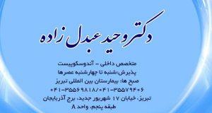 دکتر وحید عبدل زاده در تبریز