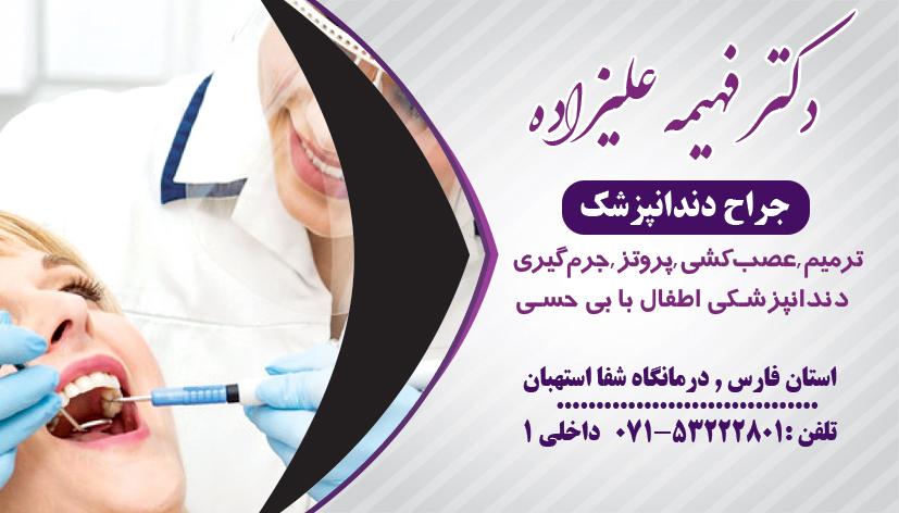دکتر فهیمه علیزاده در فارس