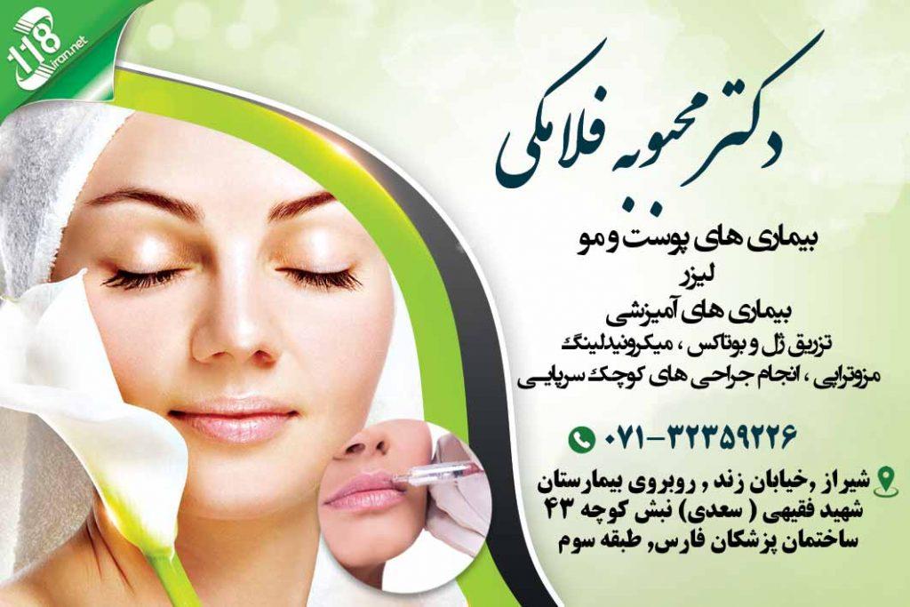 دکتر محبوبه فلامکی در شیراز