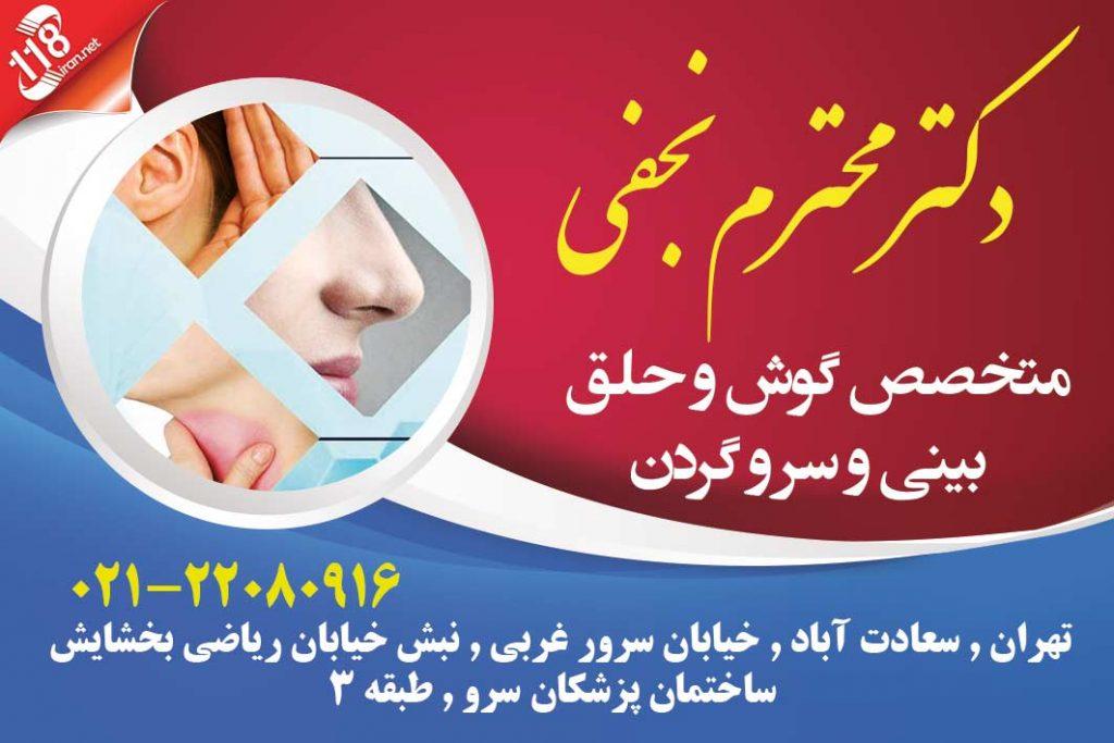دکتر محترم نجفی در تهران