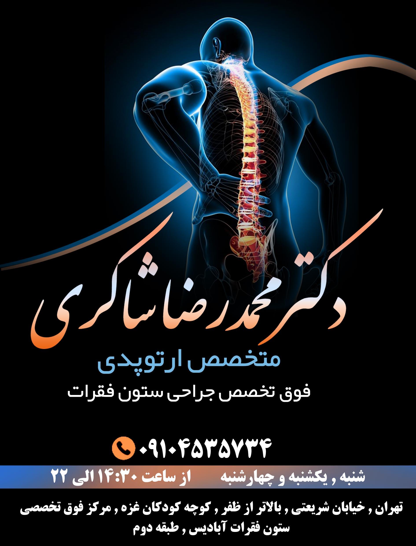 دکتر محمدرضا شاکری در تهران