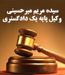 سیده مریم میرحسینی وکیل پایه یک دادگستری